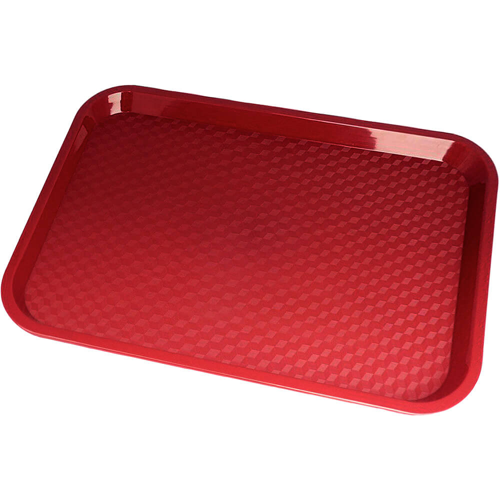 "Cranberry, 10"" x 14"" Fast Food Trays, 24/PK"