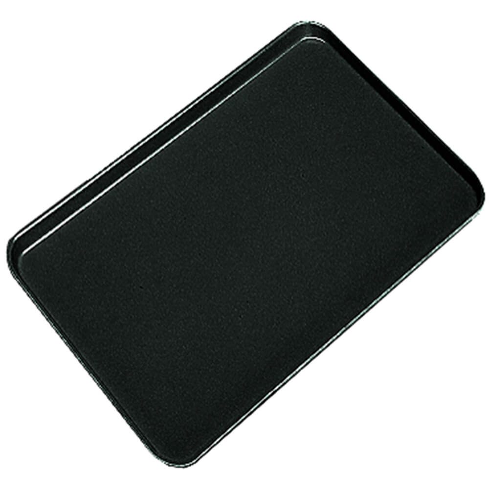 "Black, 20"" x 25"" x 13/16"" Deli / Bakery Display Trays, 6/PK"