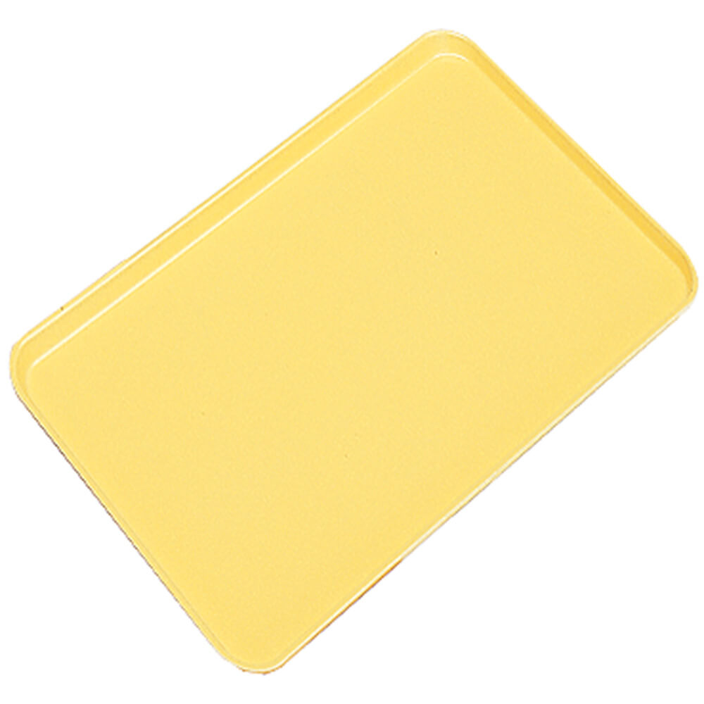 "Yellow, 20"" x 25"" x 13/16"" Deli / Bakery Display Trays, 6/PK"