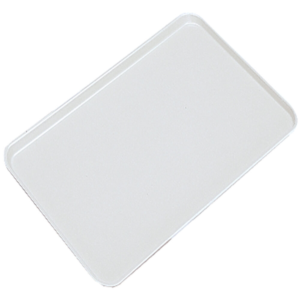 "White, 10"" X 15"" x 3/4"" Deli / Bakery Display Trays, 24/PK"