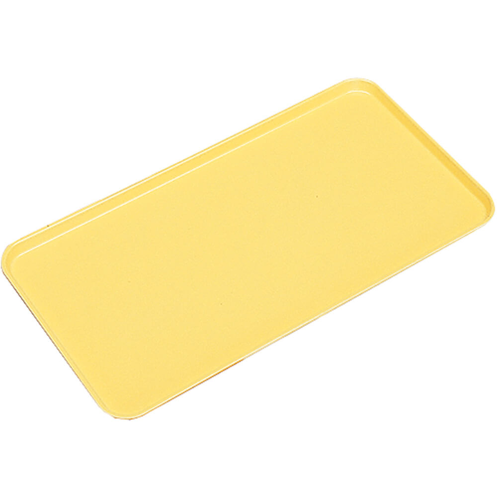 "Yellow, 10"" X 30"" x 3/4"" Deli / Bakery Display Trays, 12/PK"