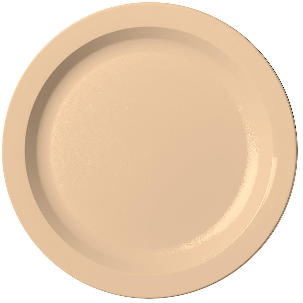"Beige, 10"" Narrow Rim Plate, Unbreakable Dinnerware, 48/PK"