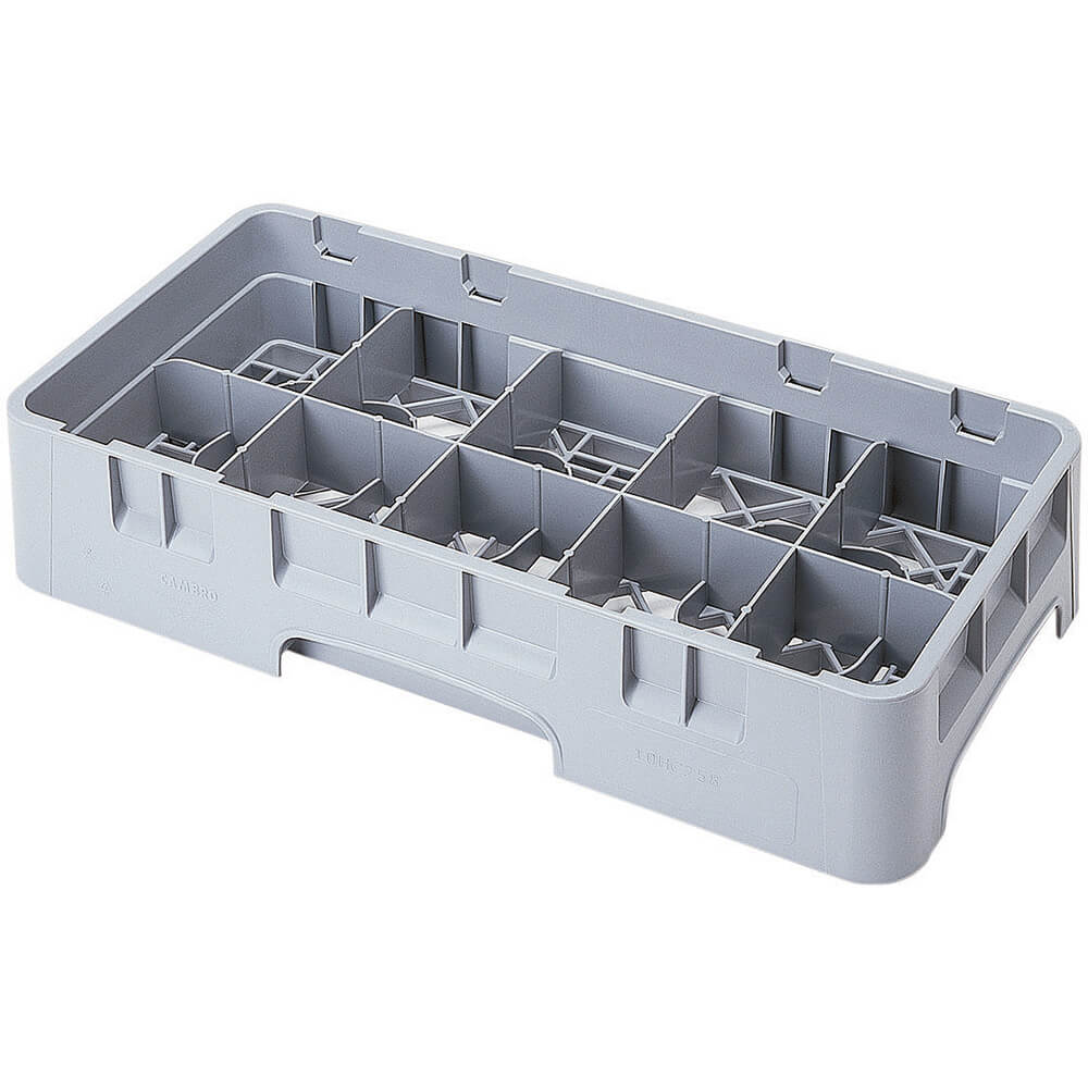 "Soft Gray, 10 Comp. Cup Racks, Half Size, 2-5/8"" H Max."