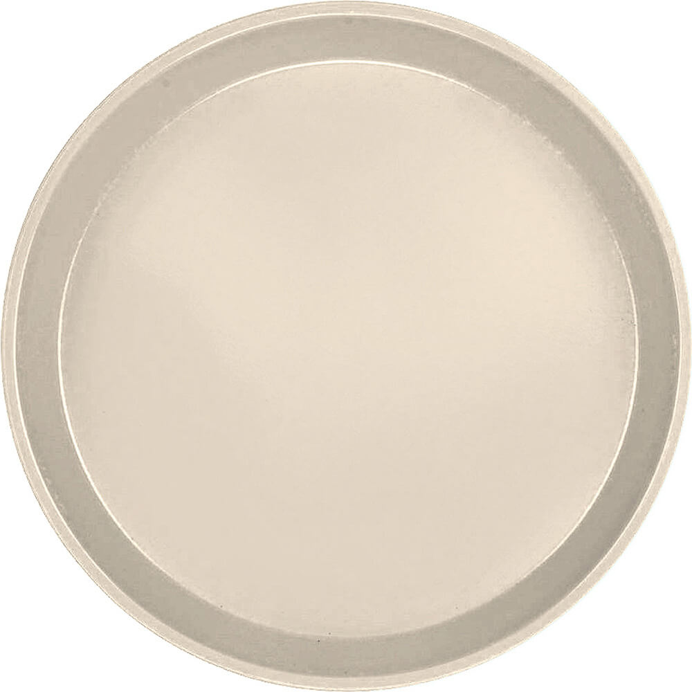 "Desert Tan, 12"" Round Serving Tray, Fiberglass, 12/PK"