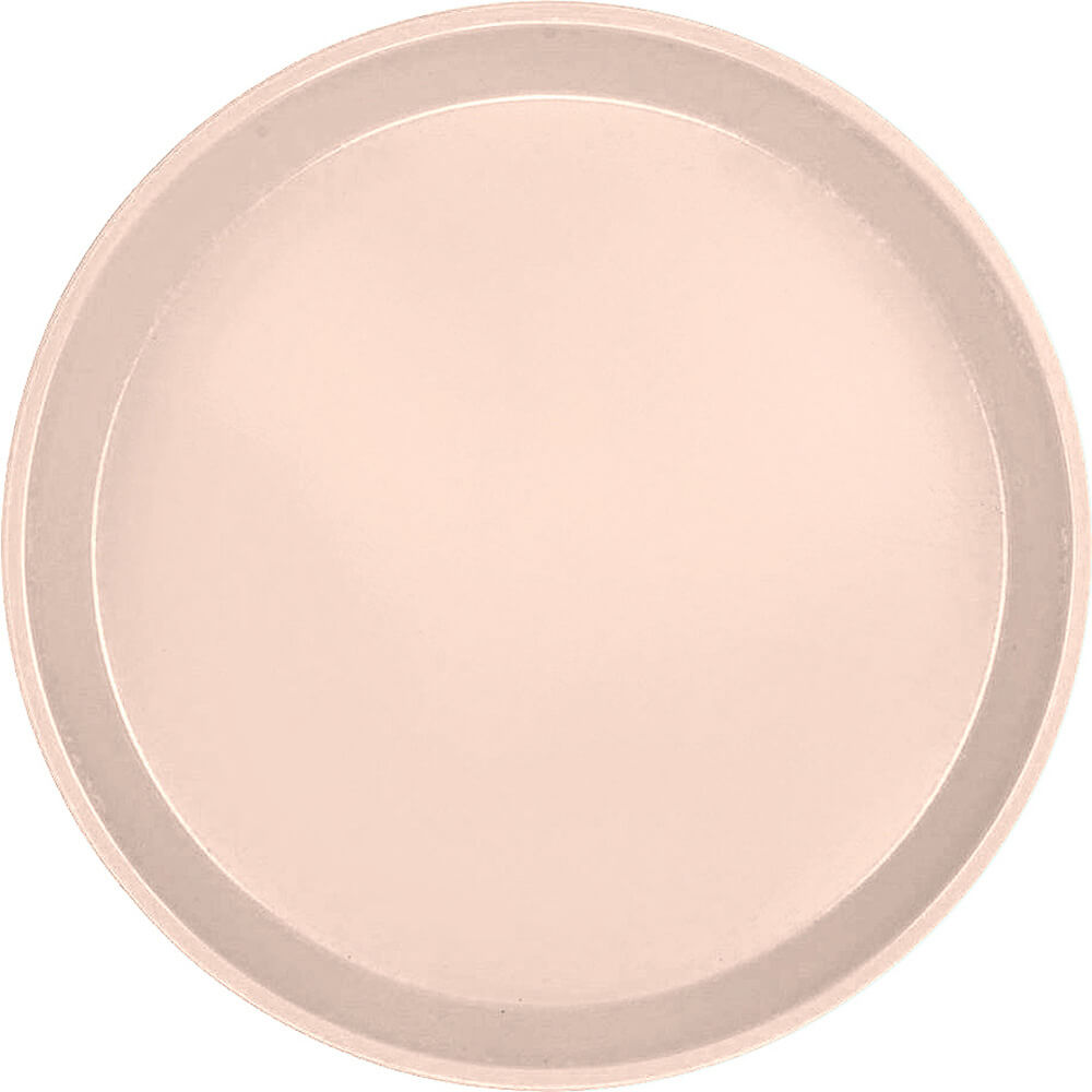 "Light Peach, 11"" Round Serving Tray, Fiberglass, 12/PK"
