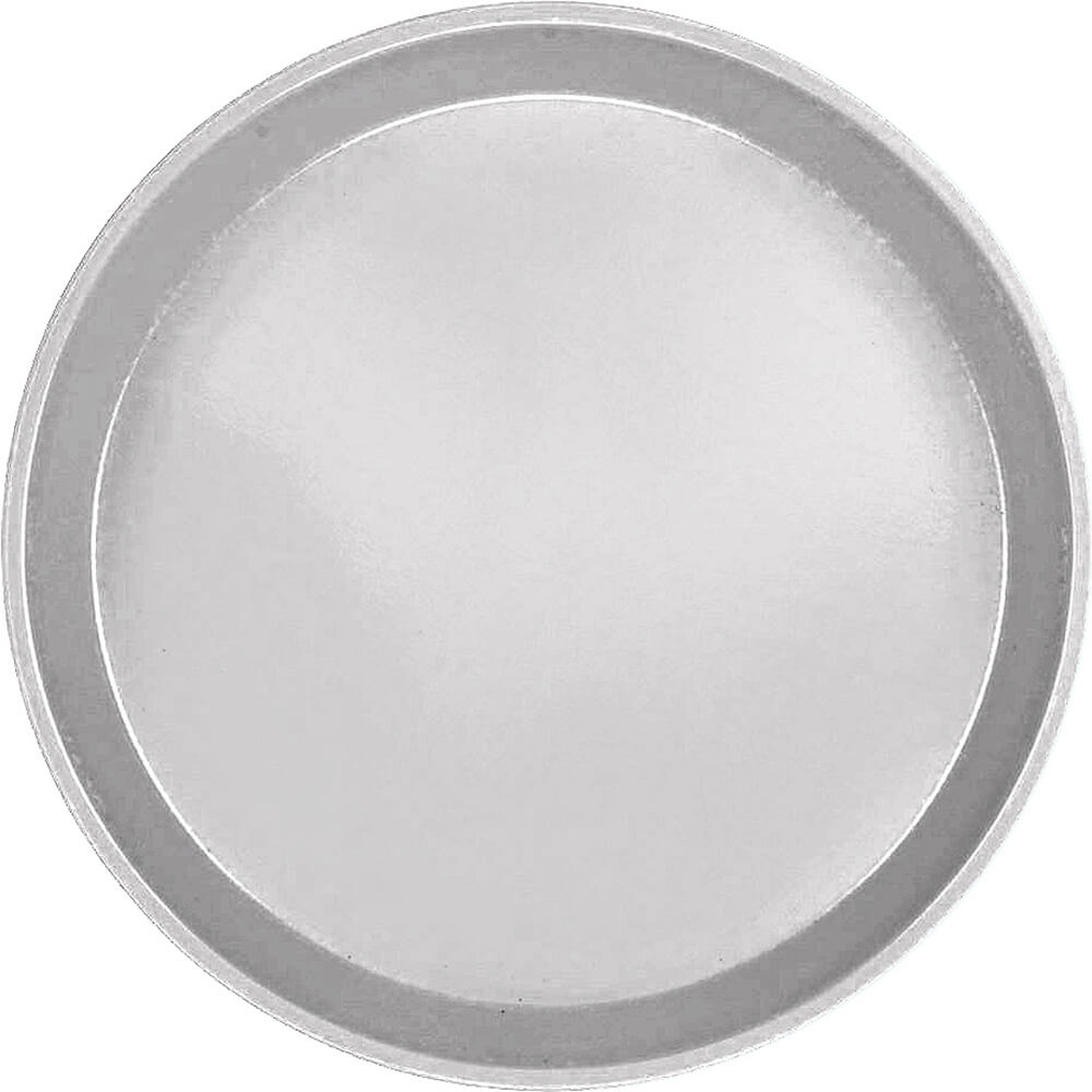 "Pearl Gray, 12"" Round Serving Tray, Fiberglass, 12/PK"