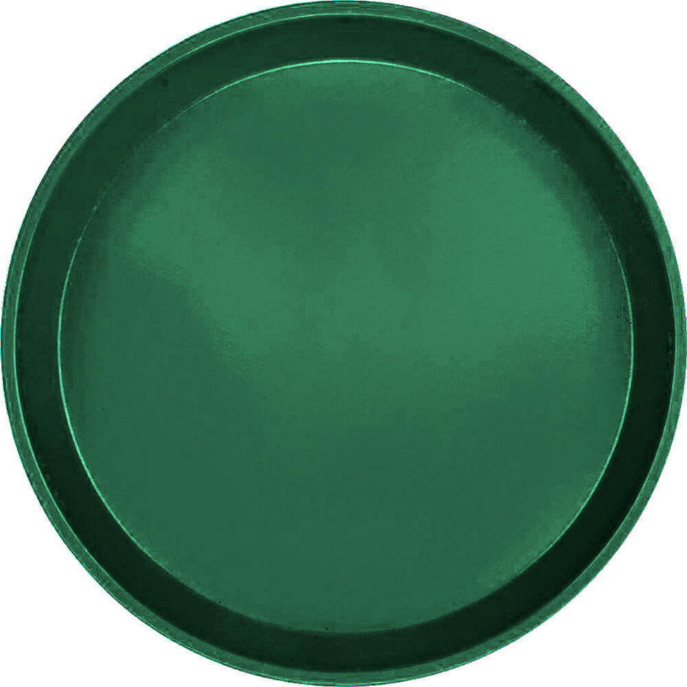 "Sherwood Green, 9"" Round Serving Tray, Fiberglass, 12/PK"
