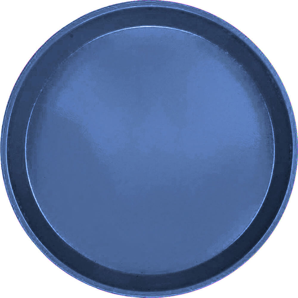 "Amazon Blue, 10"" Round Serving Tray, Fiberglass, 12/PK"