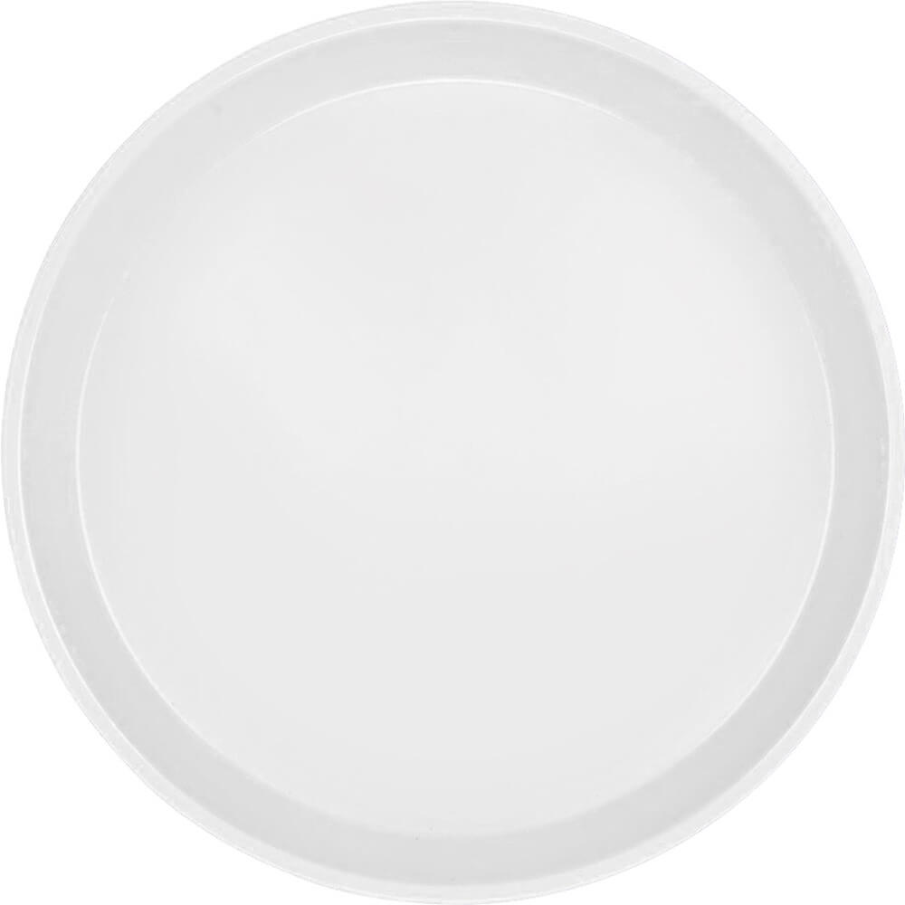 "White, 9"" Round Serving Tray, Fiberglass, 12/PK"