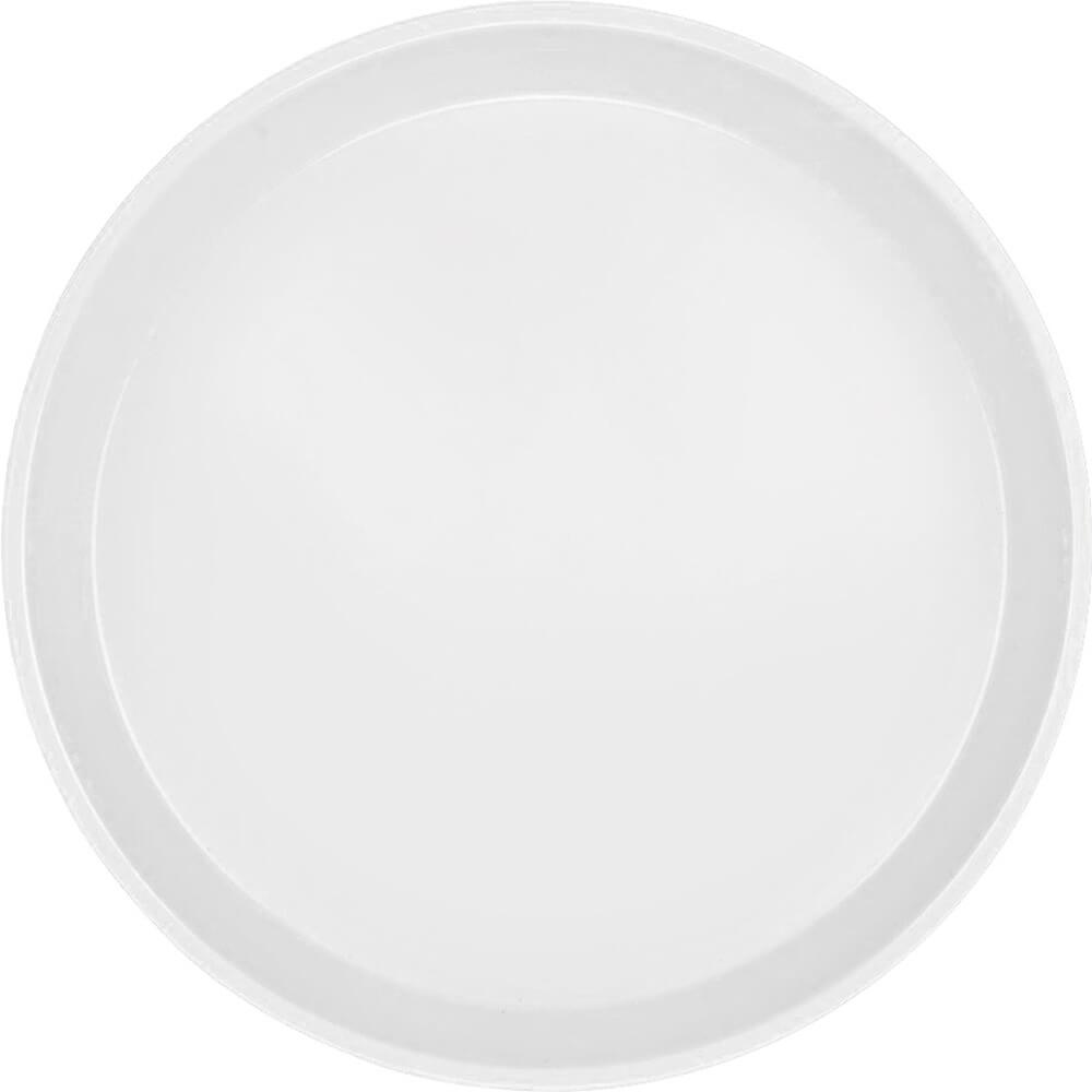 "White, 10"" Round Serving Tray, Fiberglass, 12/PK"