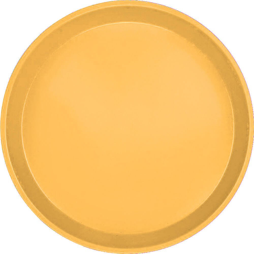 "Tuscan Gold, 9"" Round Serving Tray, Fiberglass, 12/PK"