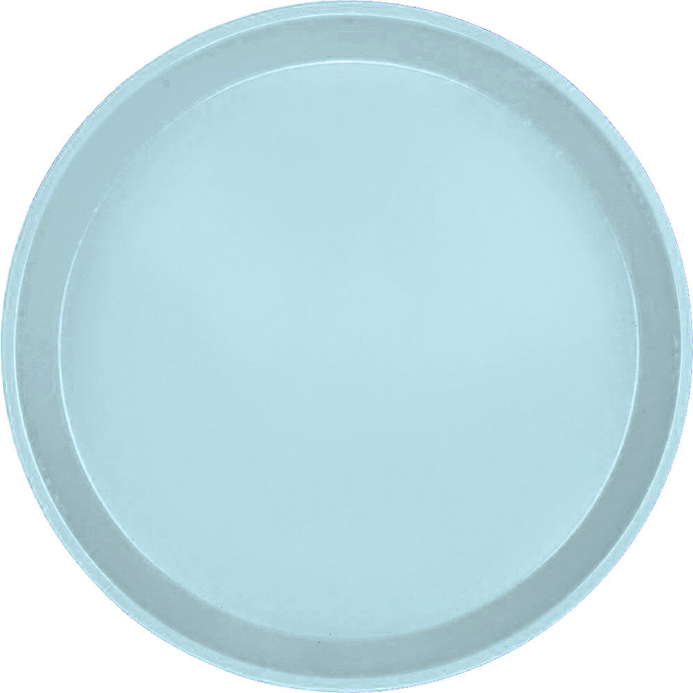 "Sky Blue, 12"" Round Serving Tray, Fiberglass, 12/PK"