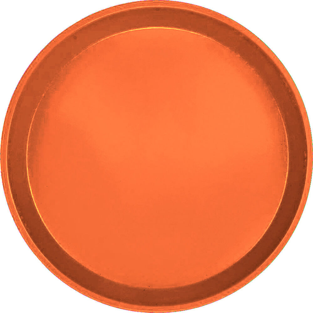 "Citrus Orange, 11"" Round Serving Tray, Fiberglass, 12/PK"