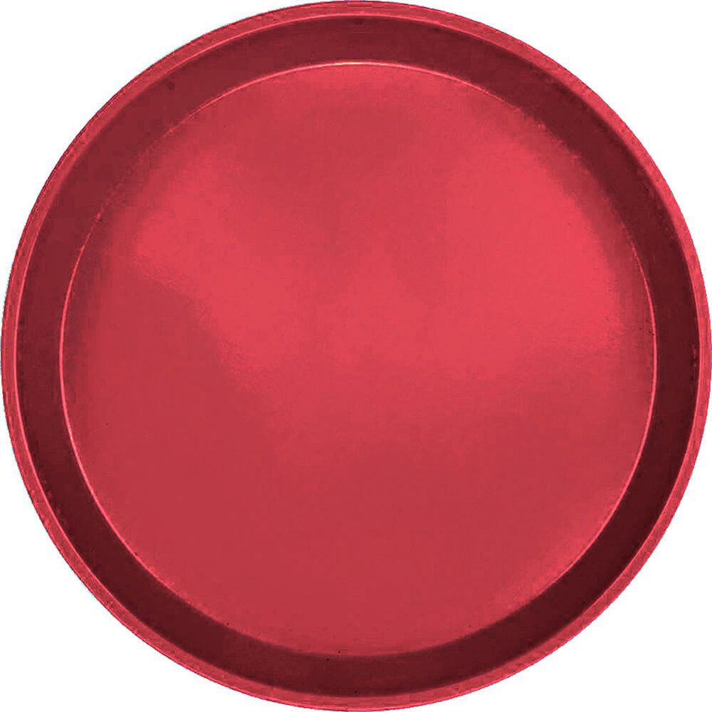 "Ever Red, 11"" Round Serving Tray, Fiberglass, 12/PK"