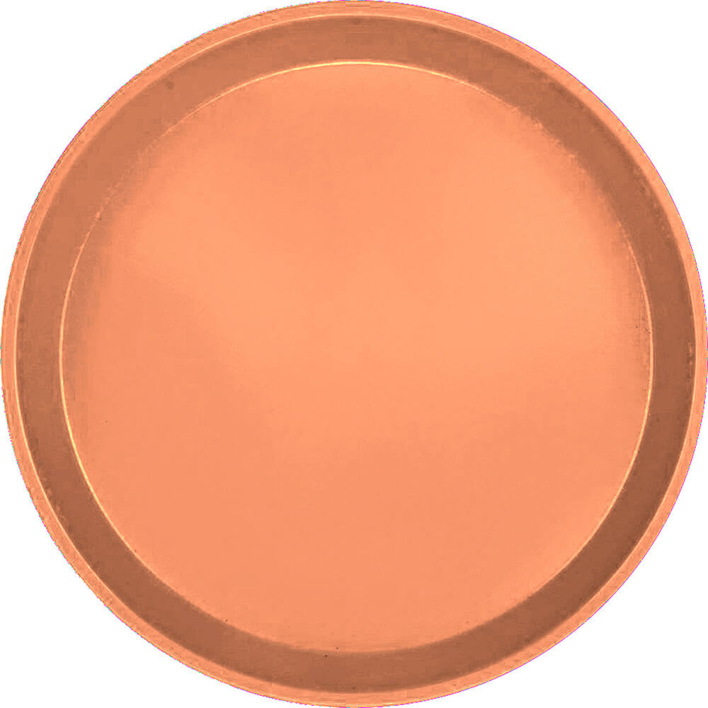"Orange Pizazz, 9"" Round Serving Tray, Fiberglass, 12/PK"