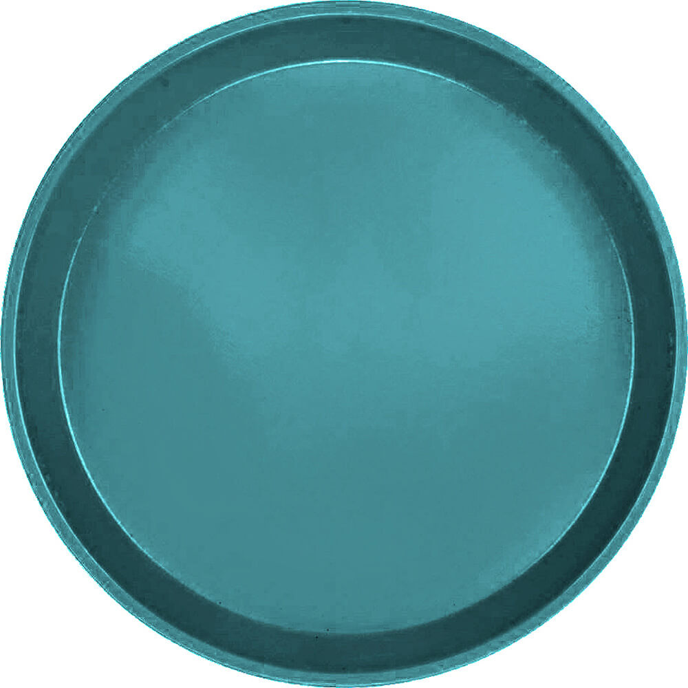"Slate Blue, 9"" Round Serving Tray, Fiberglass, 12/PK"