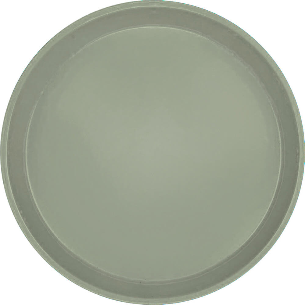 "Olive Green, 12"" Round Serving Tray, Fiberglass, 12/PK"