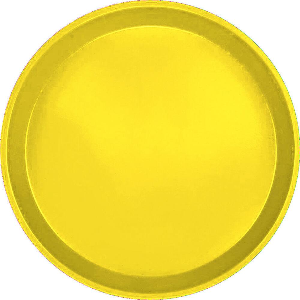 "Mustard, 10"" Round Serving Tray, Fiberglass, 12/PK"