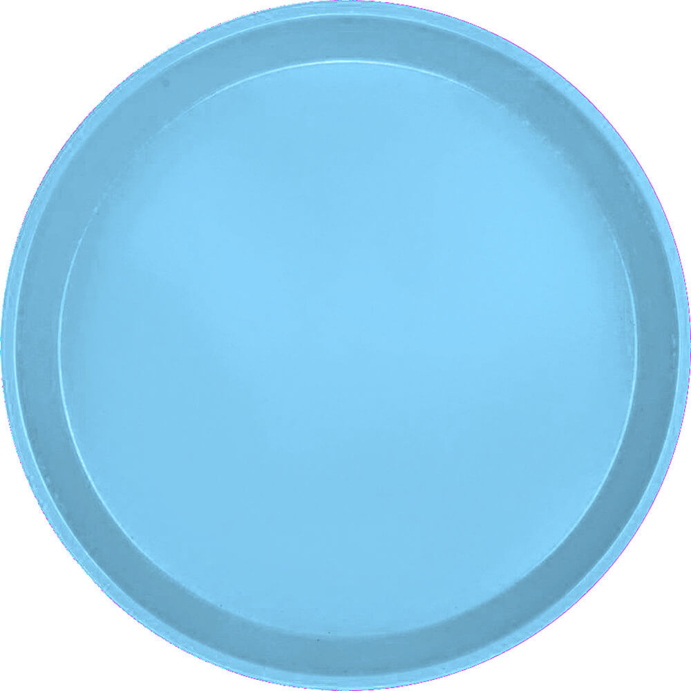 "Robin Egg Blue, 9"" Round Serving Tray, Fiberglass, 12/PK"