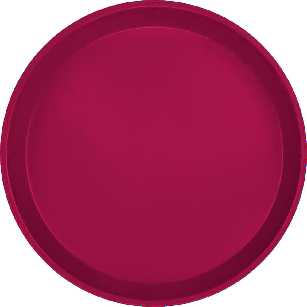 "Burgundy Wine, 12"" Round Serving Tray, Fiberglass, 12/PK"