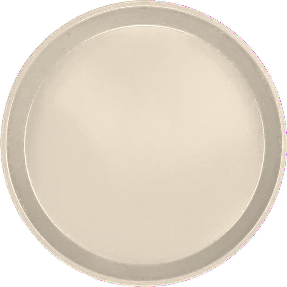 "Cameo Yellow, 9"" Round Serving Tray, Fiberglass, 12/PK"