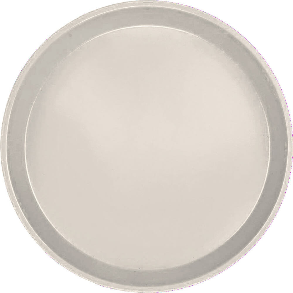"Cottage White, 9"" Round Serving Tray, Fiberglass, 12/PK"