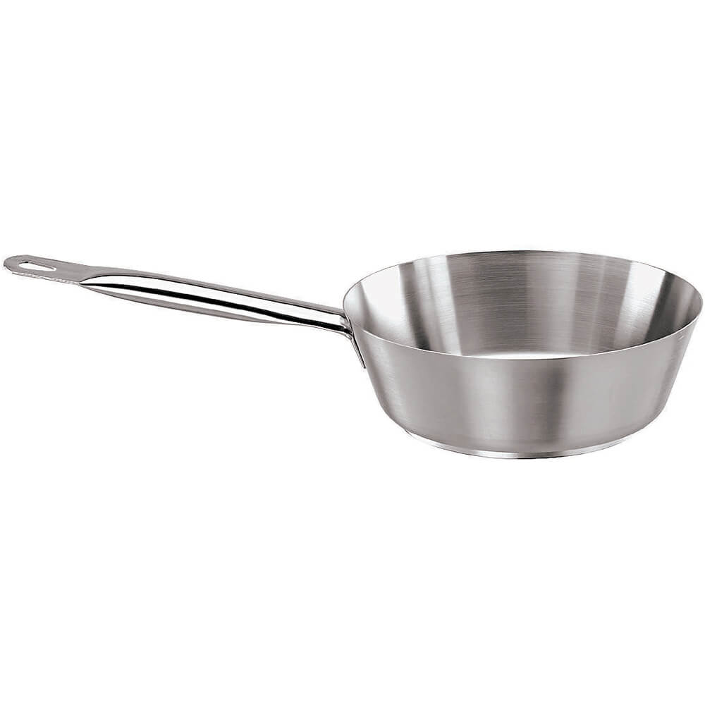Stainless Steel Slanted Saute Pan, No Lid, 1 Qt