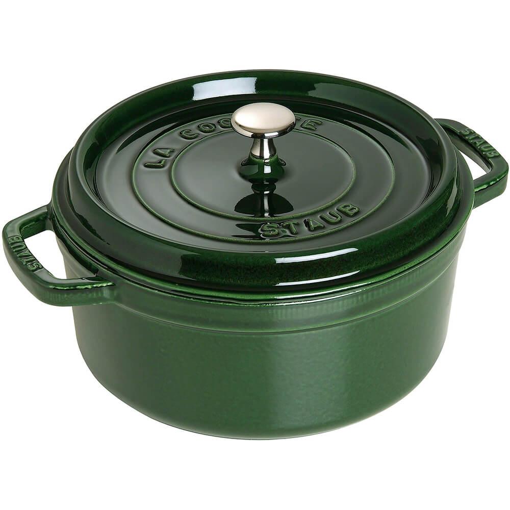 Basil, Round Cast Iron Cocotte, 4 Qt