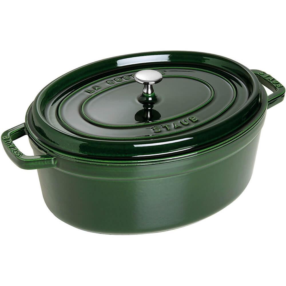 Basil, Oval Cast Iron Cocotte, 7 Qt