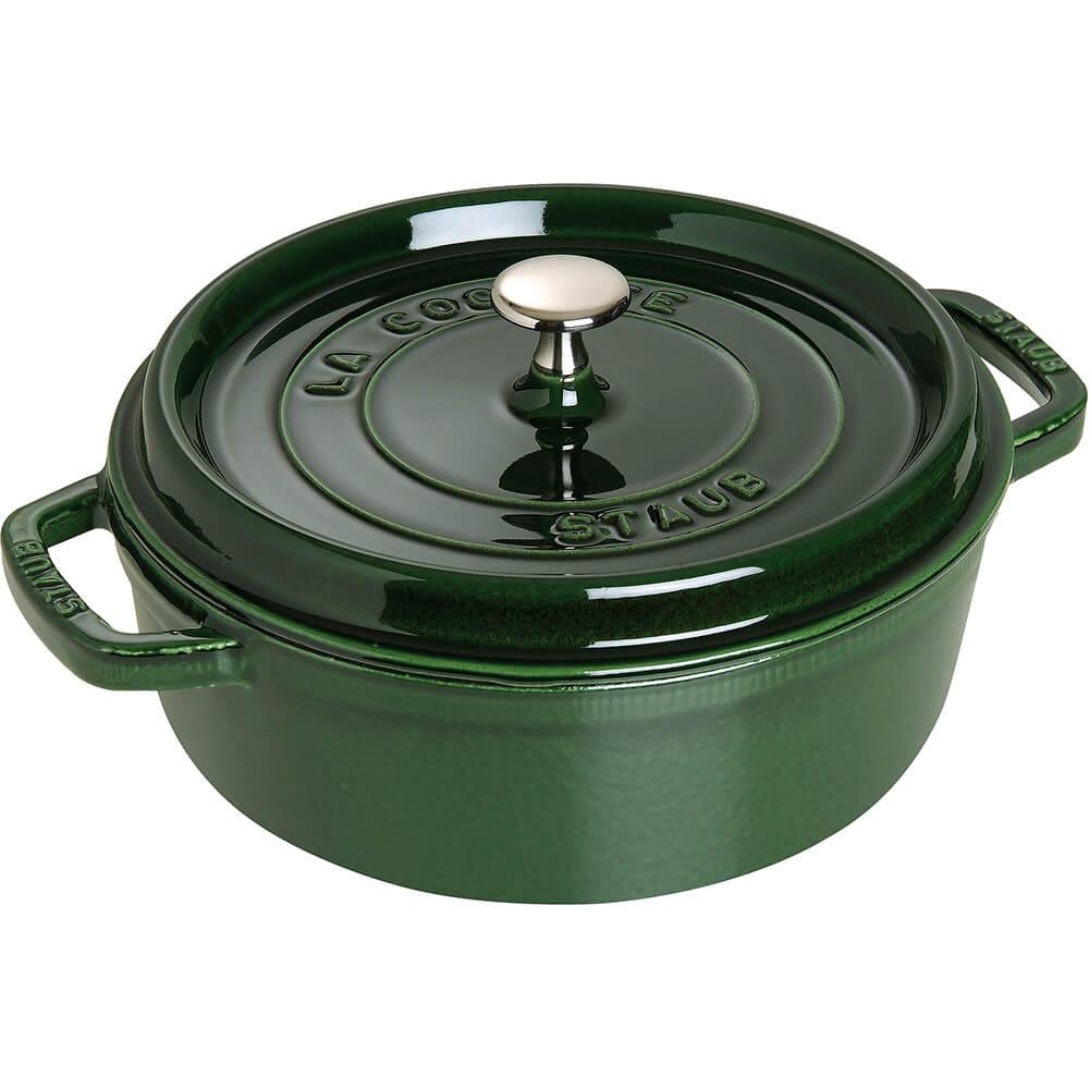 Basil, Round Dutch Oven, Cast Iron Cocotte, 6 Qt