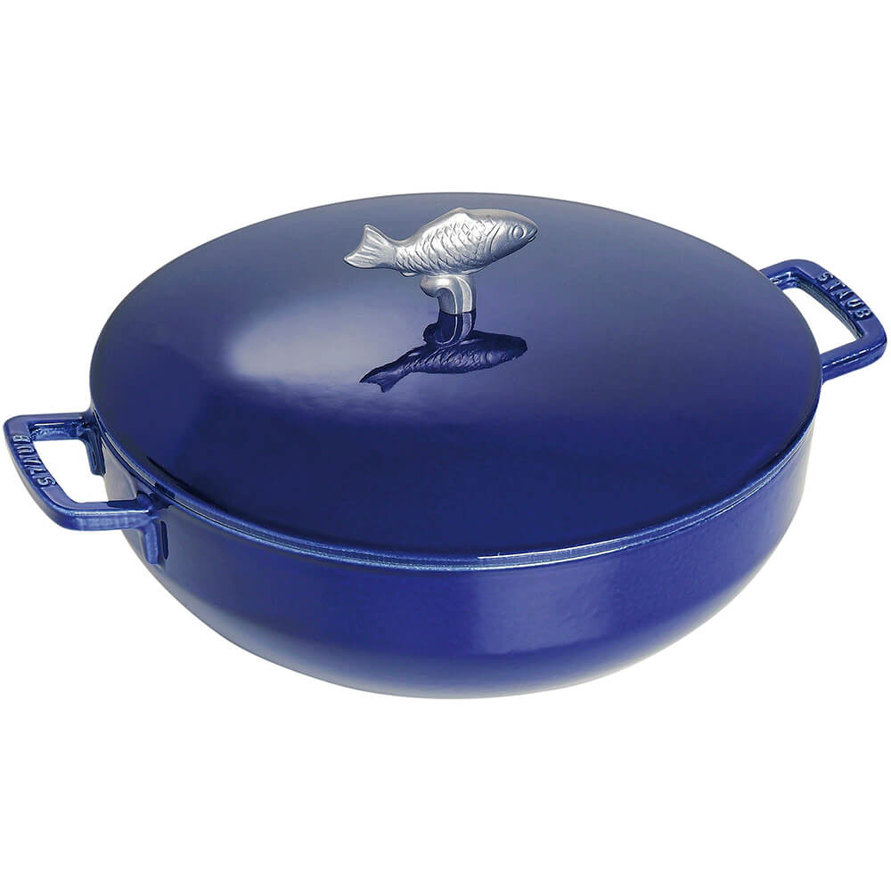 Dark Blue, Limited Edition Bouillabaisse Cast Iron Pot, 5 Qt