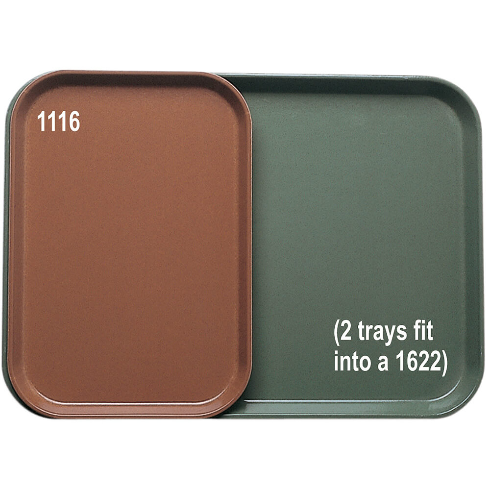 "Bay Leave Brown, Insert Trays for 16"" x 22"" Trays, 24/PK"