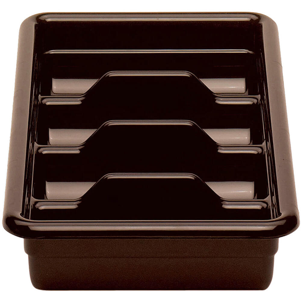 "Dark Brown, 11"" X 20"" Plastic Bus Boxes, 12/PK"