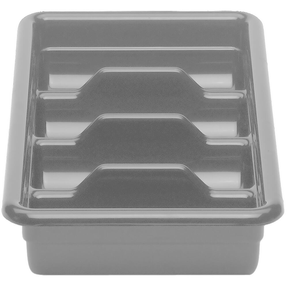 "Gray, 11"" X 20"" Plastic Bus Boxes, 12/PK"