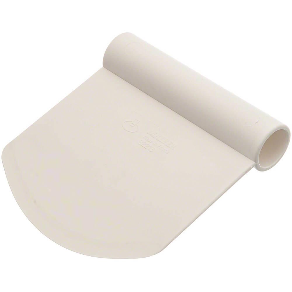 White, Exoglass Rigid Dough Scraper, Round Edge