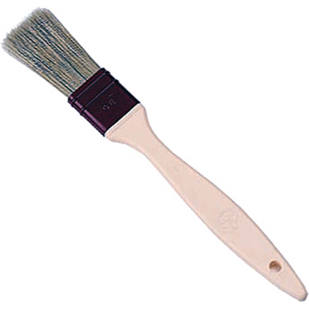 Natural Bristles Flat Pastry Brush, 1.12""