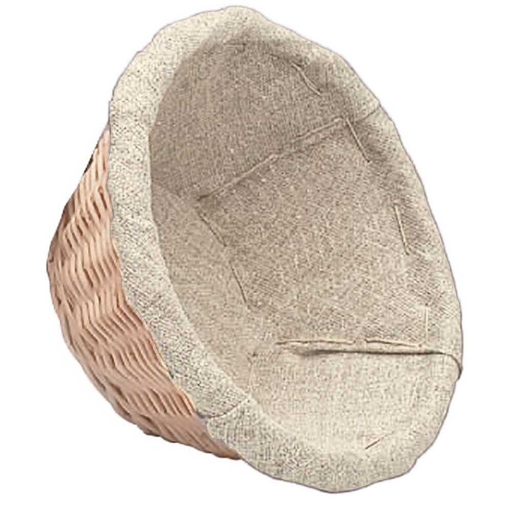 "Wicker Lined Proofing / Bread Basket, Round, 8.25"" View 2"