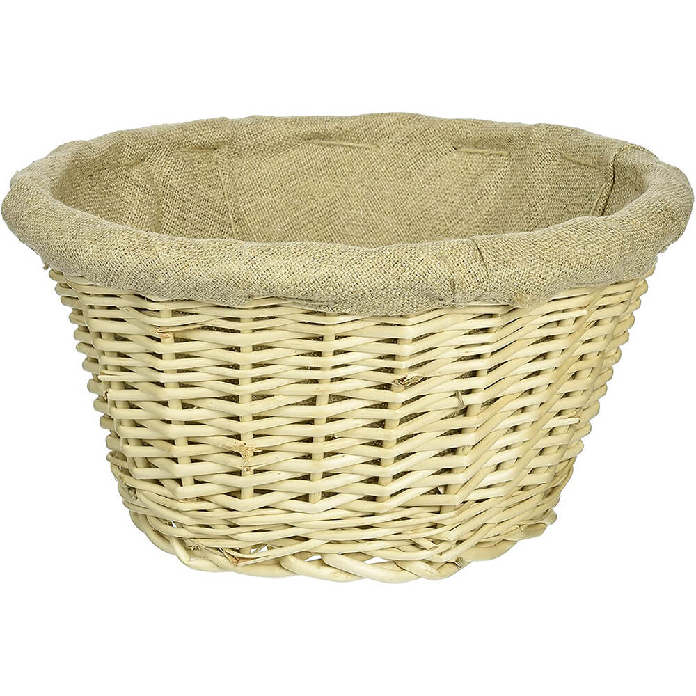 Wicker Lined Proofing / Bread Basket, Round, 8.25""