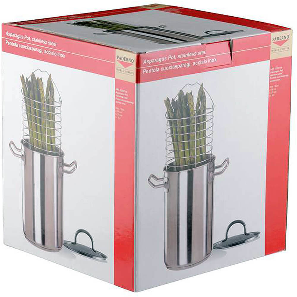 Stainless Steel Asparagus Steamer Pot Set with Basket, 5 Qt. View 2