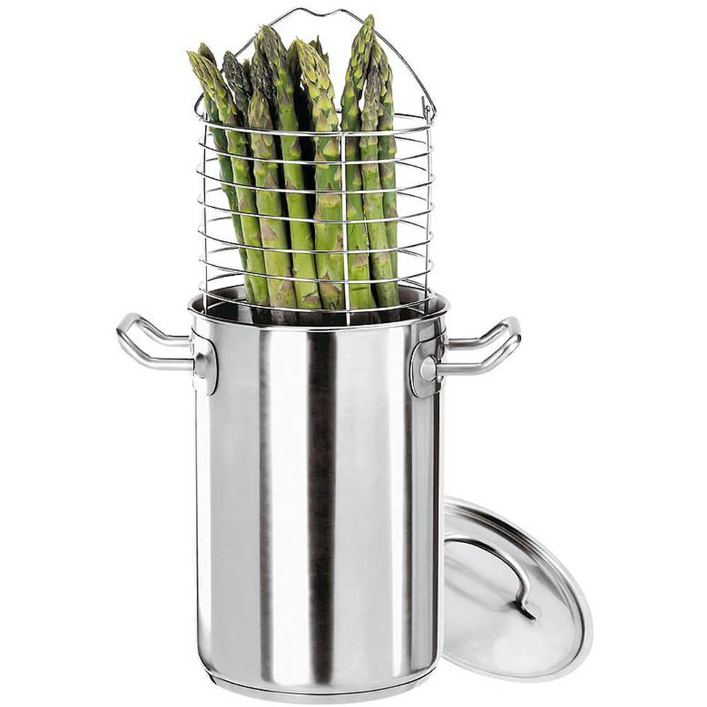 Stainless Steel Asparagus Steamer Pot Set with Basket, 5 Qt.