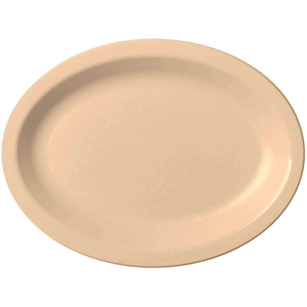 Beige, Large Oval Narrow Rim Platter, 24/PK