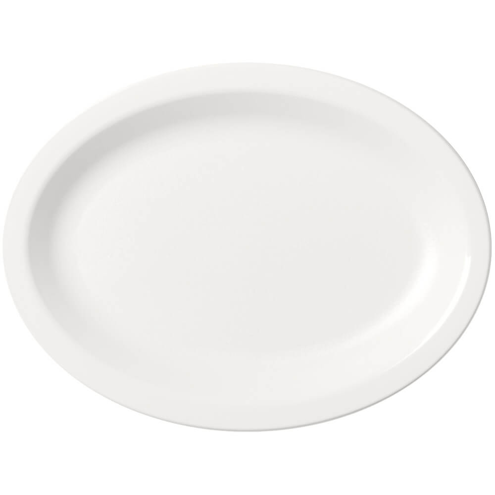 White, Large Oval Narrow Rim Platter, 24/PK