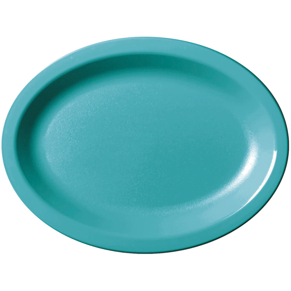 Slate Blue, Large Oval Narrow Rim Platter, 24/PK