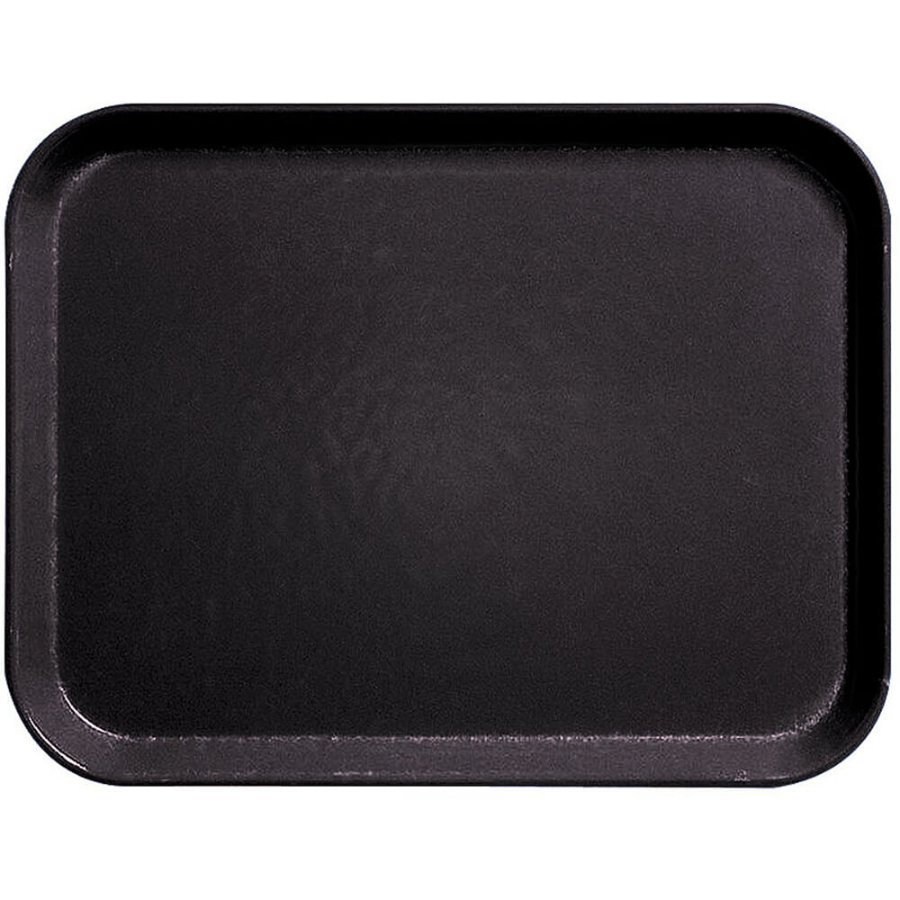 "Black, 13"" x 21"" Fiberglass Food Trays, Economy Line, 12/PK"