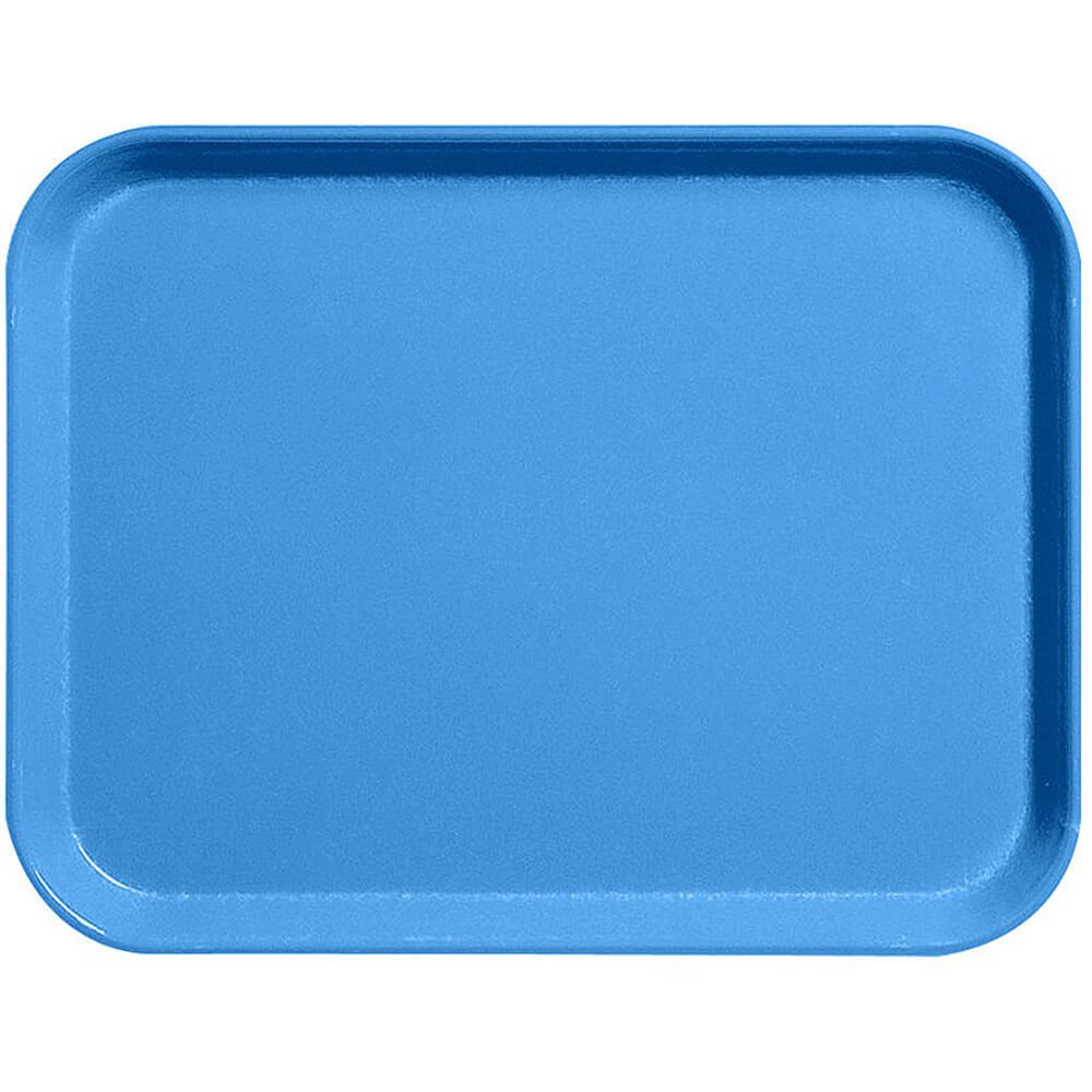 "Blue, 15"" x 20"" Fiberglass Food Trays, Economy Line, 12/PK"