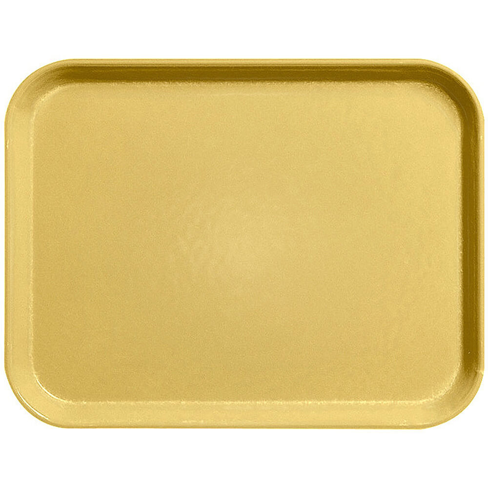 "Yellow, 13"" x 21"" Fiberglass Food Trays, Economy Line, 12/PK"