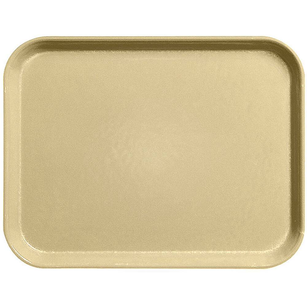 "Tan, 14"" x 18"" Fiberglass Food Trays, Economy Line, 12/PK"