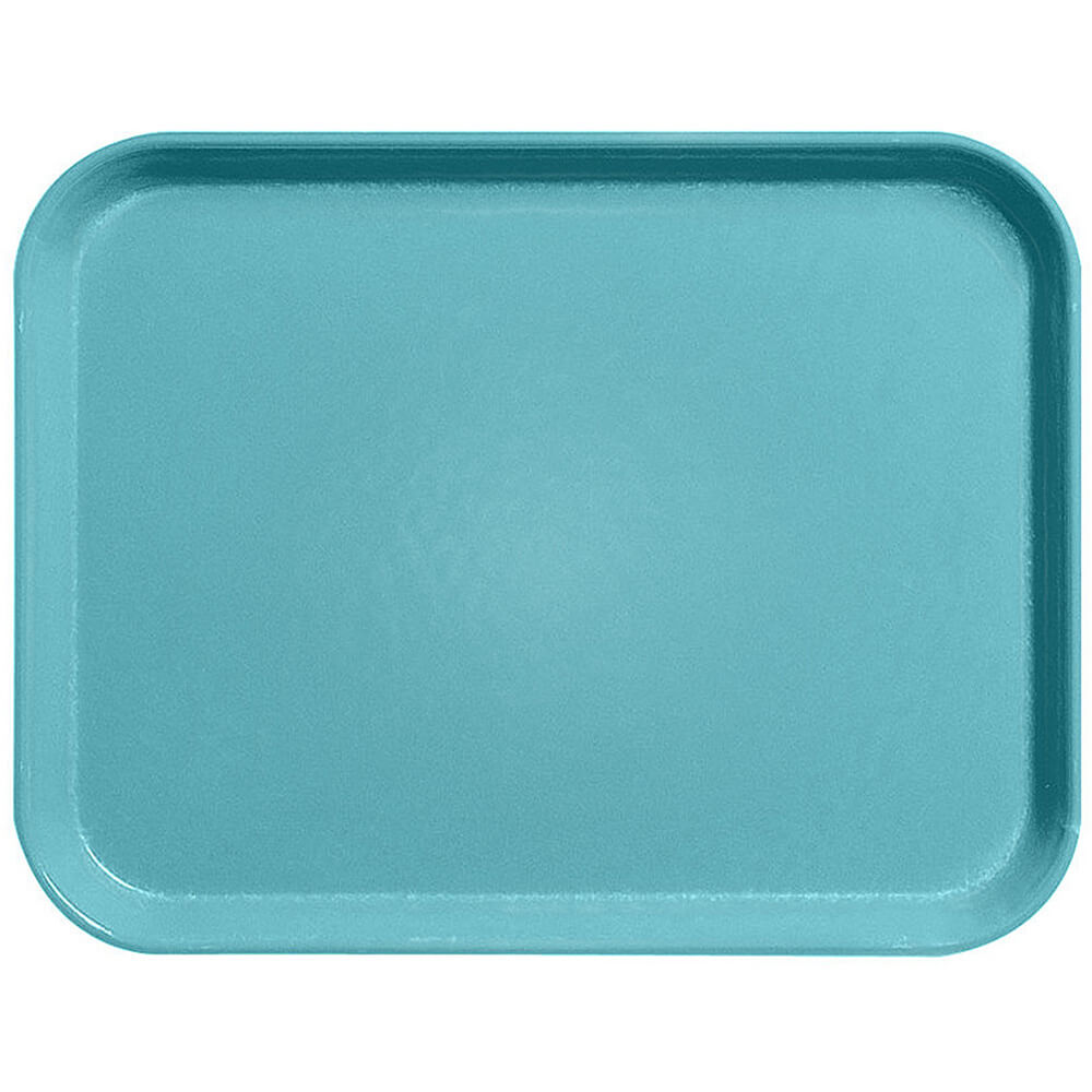 "Green, 18"" x 26"" Fiberglass Food Trays, Economy Line, 12/PK"