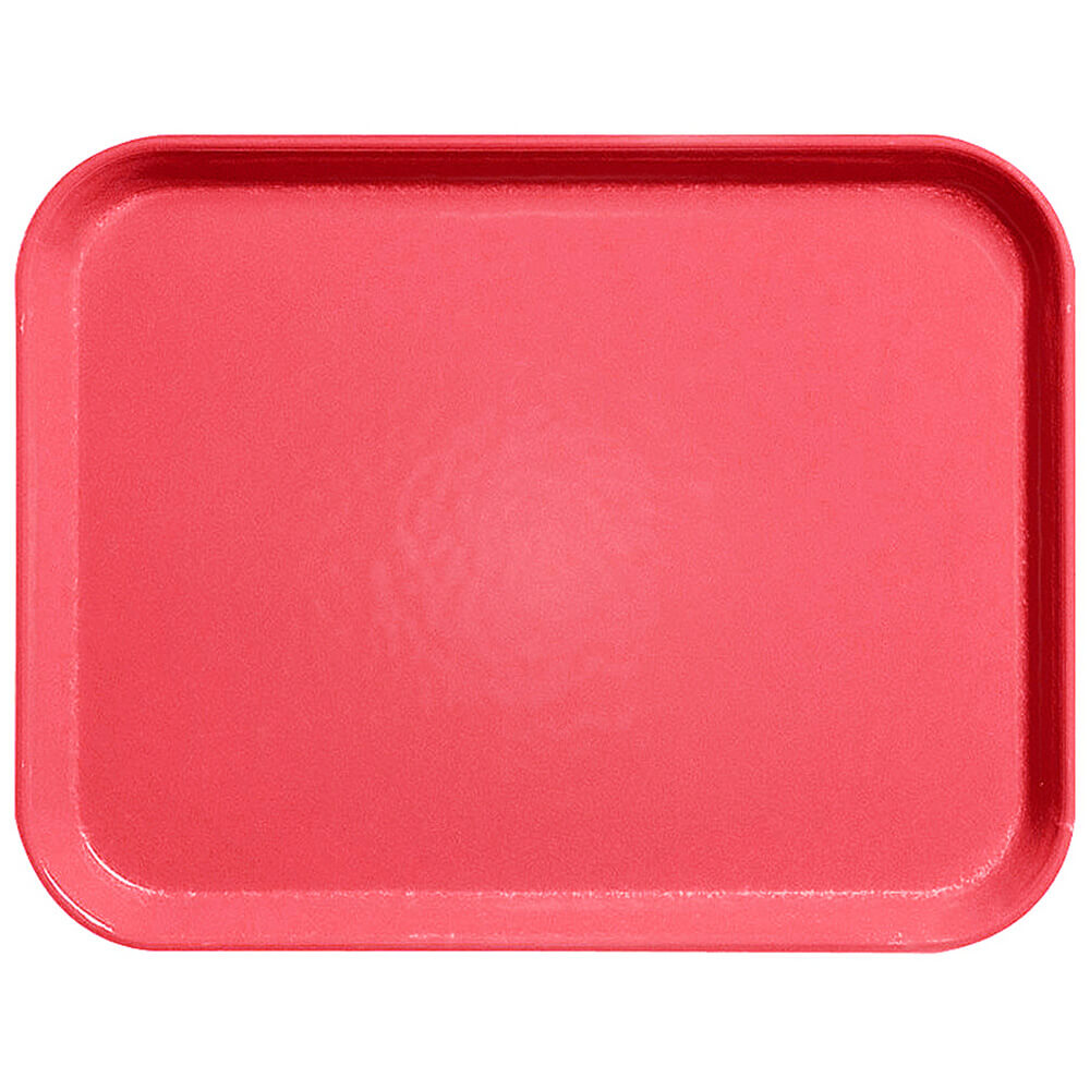 "Red, 15"" x 20"" Fiberglass Food Trays, Economy Line, 12/PK"