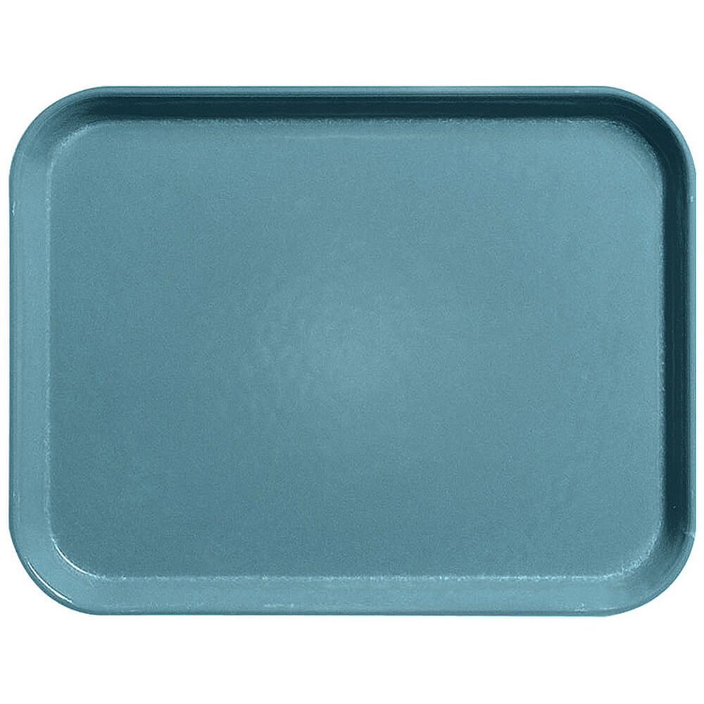 "Steel Blue, 15"" x 20"" Fiberglass Food Trays, Economy Line, 12/PK"